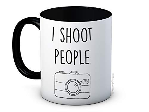I Shoot People - Fotograf Kamera - Hochwertigen Keramik Kaffeetasse Becher