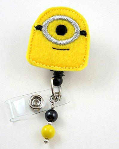 Minon Inspired -Nurse Badge Reel - Retractable ID Badge Holder - Nurse Badge - Badge Clip - Badge Reels - Pediatric - RN - Name Badge Holder