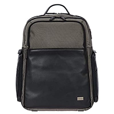 Bric's Monza Large Laptop|Tablet Business Backpack, Grey.Black, One Size