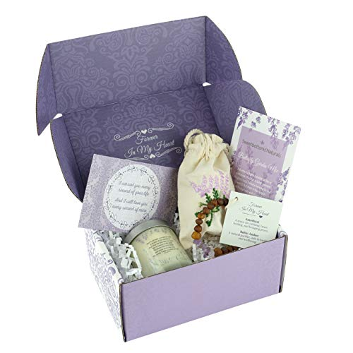 Unique Remembrance Gift for Loss of a Baby - Express Your Sympathy 4-Piece Gift Set with Classic Jar Candle, Memorial Jewelry, Flower Seeds, Card & Gift Box - Uplifting Loss of a Child Memorial Gift