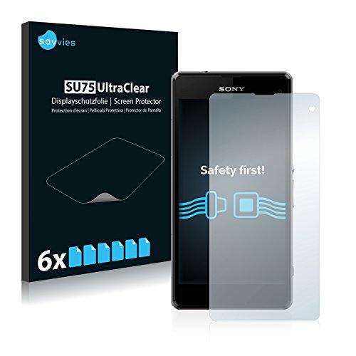 savvies 6-Pezzi Pellicola Protettiva Compatibile con Sony Xperia Z1 Compact / Z1 Mini Protezione Schermo Trasparente