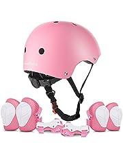 ValueTalks Beschermingsset voor kinderen, beschermers, inliner beschermende uitrusting voor kinderen, kniebeschermers set met helm voor inliner skateboard fiets rolschaatsen