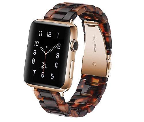 Correa de Reloj Compatible con Apple Watch de 38/40 mm. Correa de repuesto de Resina compatible con iWatch Series SE 6 5 4 3 2 1.