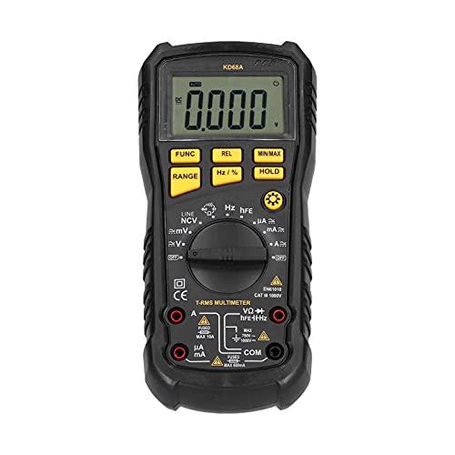 Multímetro Digital - Mano Luz de Fondo de la Pantalla LCD Voltímetro Herramienta de Medición de Energía para Auto Probador de Batería Probador de Circuitos, Apagado Automático(#2)