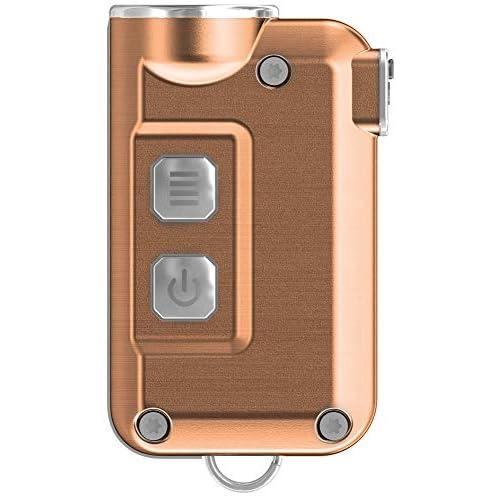 Nitecore Tini 380lm Super Piccolo USB Ricaricabile LED Portachiavi Torcia Blu, TINI, Copper