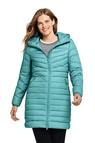 Lands' End Womens Ultralight Packable Down Coat Meridian Blue Regular X-Large