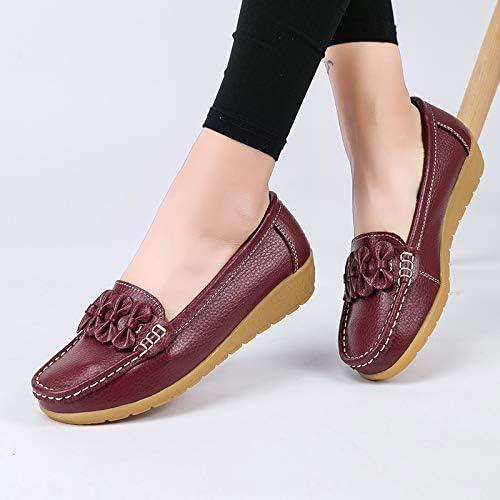 Gaatpot Flat Schuhe Damen Leder Bootsschuhe Mokassins Slipper Freizeit Halbschuhe