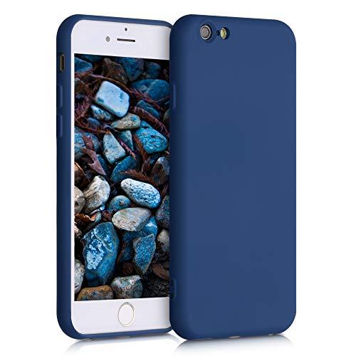 kwmobile Cover Compatibile con Apple iPhone 6 / 6S - Custodia in Silicone Effetto Gommato - Back Case Protezione Cellulare - Blu Scuro