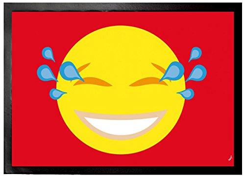 1art1 Emoticonos - Emoji Smiley con Lágrimas De Alegría Felpudo Alfombra (70 x 50cm)