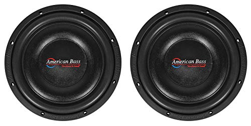 2 American Bass SL-104 10' 600 Watt Shallow Slim Car Subwoofers 4-ohm Subs SL104
