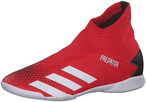 Adidas Predator 20.3 LL IN J, Zapatillas Deportivas Fútbol Unisex Infantil, Gris (Active Red/FTWR White/Core Black), 37 1/3 EU