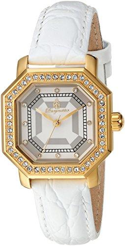 Burgmeister Armbanduhr für Damen mit Analog Anzeige, Quarz-Uhr und Lederarmband - wasserdichte Damenuhr mit zeitlosem, schickem Design - Klassische, Elegante Uhr für Frauen - BM168-286 Allinges