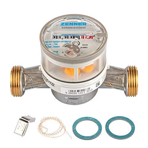Einstrahl-Wasserzähler ETKD-M 130 mm / 1 Zoll AG für Kaltwasser, Eichung 2020