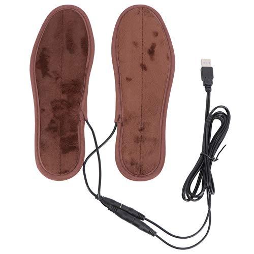 Angoily Wärmesohle Beheizbare Einlegesohlen Fußwärmer Sohlenwärmer Schuhheizung Thermosohlen Schuheinlagen mit USB wiederaufladbar für Männer Frauen Outdoor Wandern Skifahren Größ 35-36