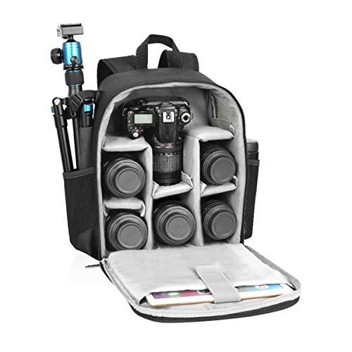 Tubackpack カメラバッグ デジタル一眼レフ ノートパソコンバックパック 防水 旅行用 大型サイズ 防水レンズ 三脚 アクセサリー 男女兼用