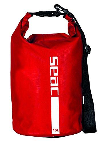 Seac Uni Dry Bag Wasserdichte Tasche Ideal Für Tauchen, Bootfahren Und Reisen, Trockensack Von 1,5 Bis 20 Liter, Rot (Red), 15 L