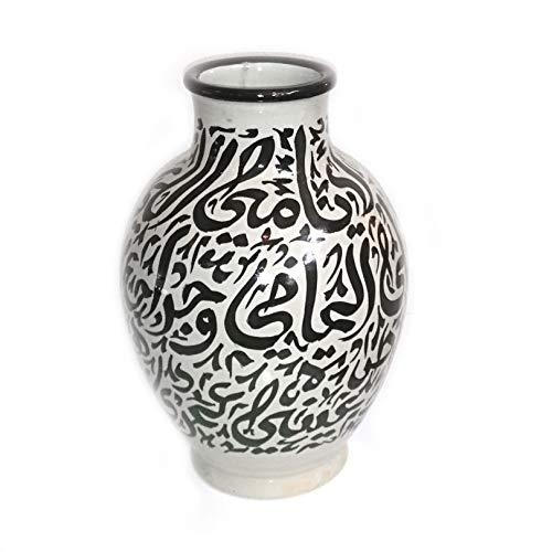 Marokkanische Vase Schwarz | Orientalische Vasen und Dekogegenstände| Orientalische Dekoration | Dekoartikel aus dem Orient