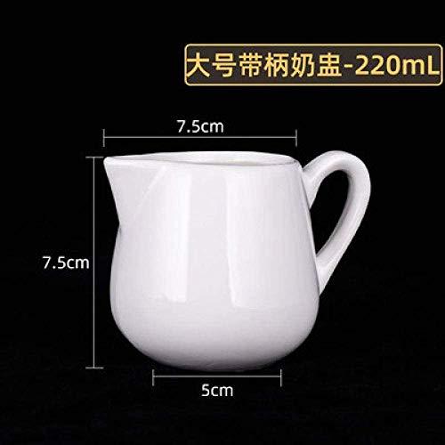 MOCHENG Moka Pot - Taza de cerámica para leche, café expreso, taza de leche, jarra de leche, azucar, jarra de leche occidental, tarro de leche, cubito de zumo, L