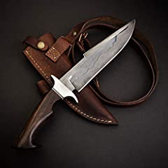 """HANDMADE DAMASCUS STEEL BLADE - Made of 256 layers of Damascus steel and hardened to 56-60 on the Rockwell Hardness Scale. The 5.25"""" blade is perfect for tactical or survival use. RAZOR-SHARP BLADE - This Damascus steel blade is made of 1095 and 15n2..."""