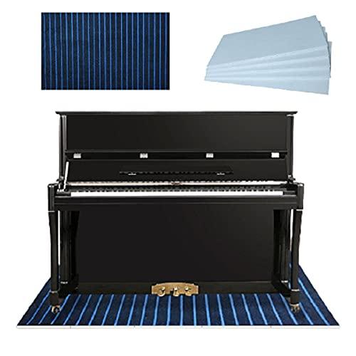 PPGE Home Alfombras Acusticas Piano, Alfombras Acusticas Suelo con Paneles Absorbentes Acusticos Adhesivo, Paneles De Insonorizacion, Alfombras Acusticas Suelo para Subwoofers 150x60CM