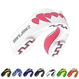 SAFEJAWZ Protège-Dents 'Extro Séries'. Protection intégrale pour Tous Les Sports, notamment Le Rugby, MMA, Les Arts Martiaux et la Boxe. (Rose Fangz, Adulte (12+ Ans))