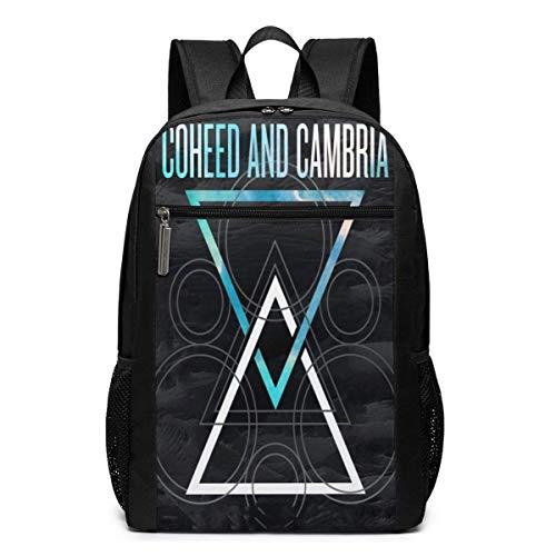 XCNGG Coheed und Cambria übergroßen Rucksack 17 Zoll Laptoptasche Schule Geschäftsreisen Unisex Casual Fashion