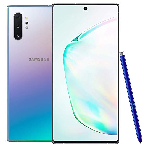 Samsung Galaxy Note 10+ Plus 256GB GSM Unlocked Smartphone, Aura Glow / Silver (Renewed)