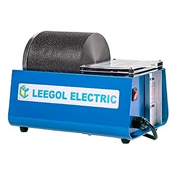 Leegol Electric Hobby Rock Tumbler Machine - Single Drum 3LB Rock Polisher  Single Barrel   Rock Tumbler A