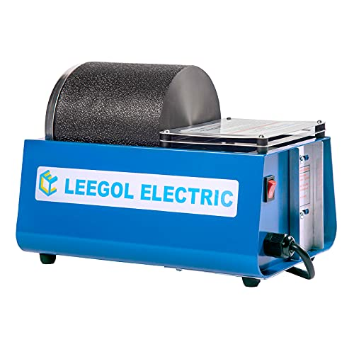 Leegol Electric Hobby Rock Tumbler Machine - Single Drum 3LB Rock Polisher (Single Barrel) (Rock Tumbler A)
