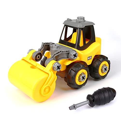 Vegena Montage Spielzeug Auto, Kleinkind Bagger Lastwagen Auto mit Schraubenzieher Zusammenbauen und Schrauben, Ideale Lernspielzeug Geschenk ab 3 Jahren Jungen Kinder Mädchen Jungen
