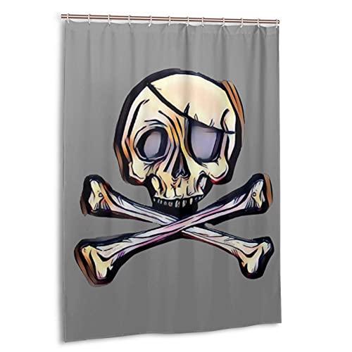 Skull Crossbones Shower Curtain
