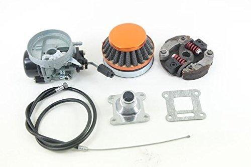 Nitro Motors Pocketbike Tuning Vergaser inklusive Luftfilter und Gasbautenzug + Renn Kupplung Ersatzteil ET