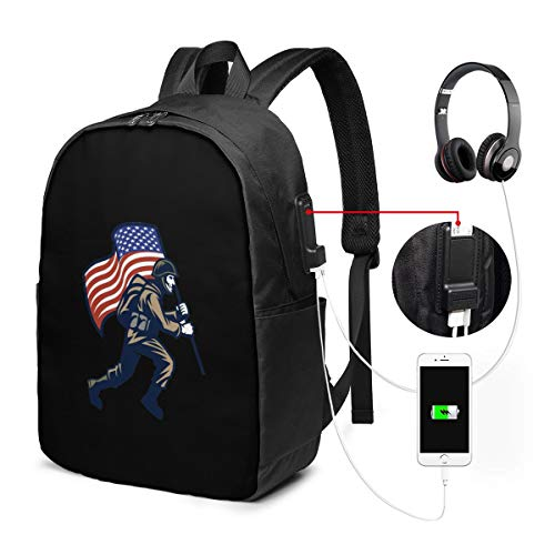 Best Free U.s School Rucksack Bookbag for Women College Bag with USB Charging Port 17-Inch Anti Theft Travel Bag