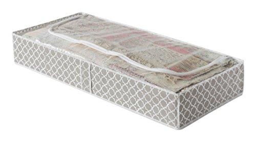 Compactor RAN7468, Custodia piatta sottoletto, Antipolvere, Talpa/Bianco, 46 x 107 x H 16 cm