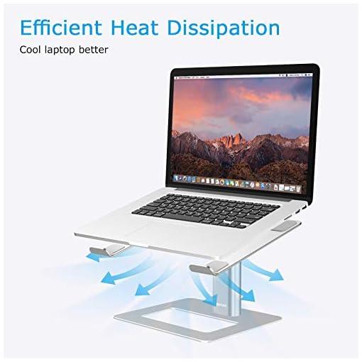 BoYata Soporte para portátil ventilado de altura ajustable, soporte para portátil compatible con MacBook Pro / Air de 10… 5