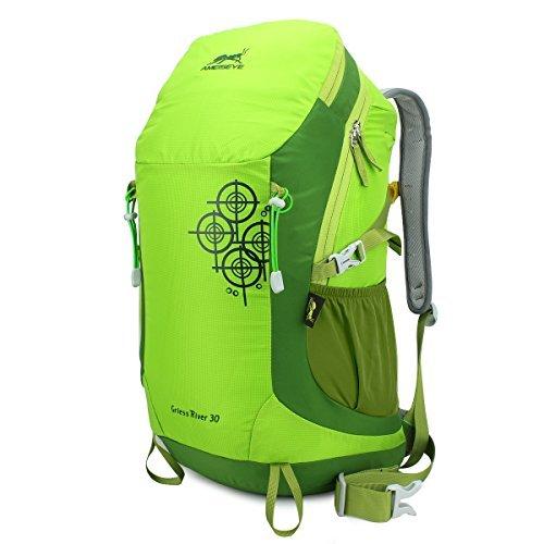 Eshow unisex Borsain nylon leggero resistente all'acqua escursionismo Daypack zaino da viaggio zaino di campeggio di sport esterni 30L Colore Frutta Verde