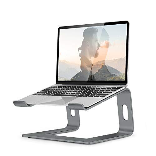 OCDAY Soporte para Portátil, Soporte Ordenadores Portátiles, Soporte para Laptop para Aluminium, Bases de Portátiles para Notebook PC Laptop MacBook, Mesa para Ordenador para 10-16 Pulgadas (Gray)