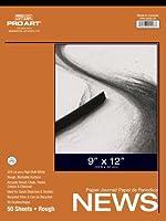 Pro Art PRO-0220-03 ラフニュースプリントパッド 12-inch x 18-inch, 50 Sheet Tape Bound Pad 0220-05