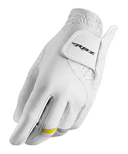 TaylorMade Unisex's Golf Glove, White/Black/Gold, M/L
