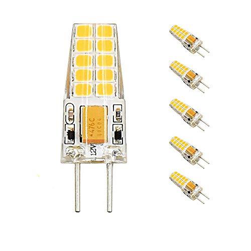Bonlux 5-packs 12V 3W G6.35 LED Bombilla de Luz Cálida 3000k, 2835 SMD 300lm,...