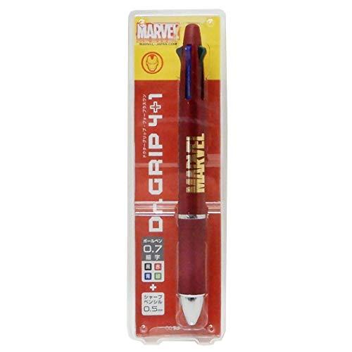 アイアンマン[黒赤青緑 ボールペン & シャープペン]ドクターグリップ 4+1/ロゴ マーベル