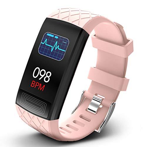 LTLJX Fitness Armband, Wasserdichtes Sportuhr Sportuhr Pulsmesser Schlafüberwachung Schrittzähler Smartwatch Armbanduhr für Kinder Damen Herren,Rosa