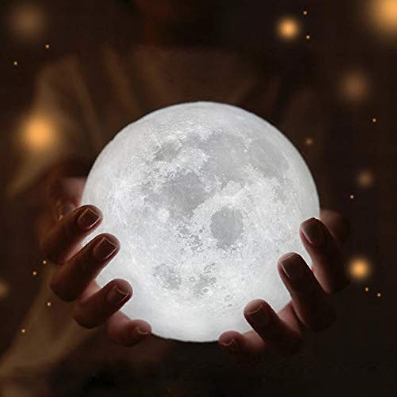 FGHHT Nachtlicht Mond Lampe 3D USB LED magisches Mond Nachtlicht Mondlicht Tisch Schreibtisch Mond Lampe Geschenk Festival Leistung LED Licht