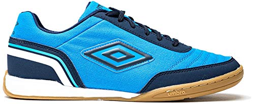Umbro Futsal Street V Zapatillas de fútbol sala Hombre, Azul (Ibiza Blue/Dark Navy/White Gz9), 45 EU