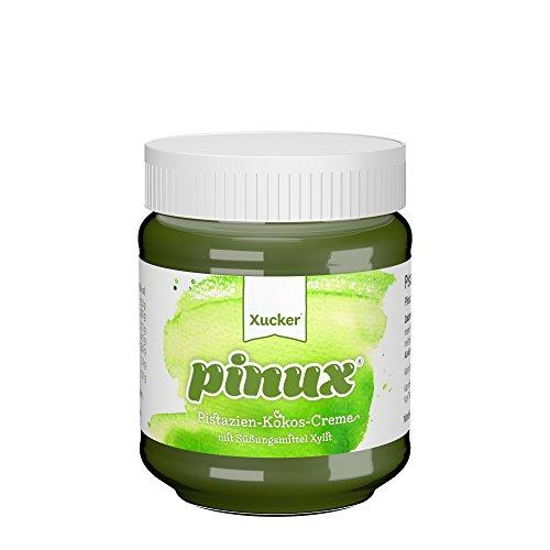 Xucker Pistazien-Kokos Brotaufstrich mit Xylit, vegan ohne Zuckerzusatz, 31% Pistaziencreme und 12% Kokos, 200 g Glas, Pinux