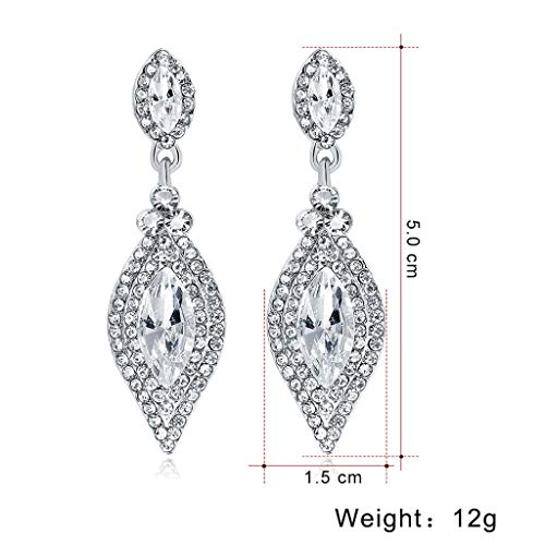 Luxury Bridal Rhinestone Clip on Earrings Non Piercing for Women Full Diamond Stud Earrings Ladies Temperament Earrings Jewelry 2DXuixsh