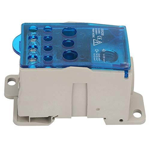 Caja de distribución de riel DIN, caja de distribución de bloque de terminales de riel DIN UKK-250A, para gabinetes de distribución de energía, cajas de distribución D