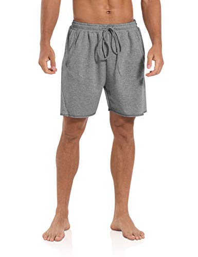Agnes Urban Mens 5.7' Shorts Athletic Running Workout Casual Lounge Elastic Waist Active Gym Cotton Terry Shorts with Pockets Dark Grey
