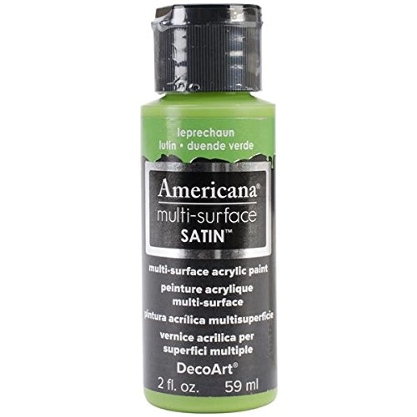 DecoArt Americana Multi-Surface Satin Acrylic Paint, 2-Ounce, Leprechaun