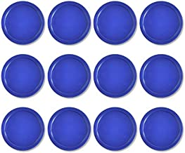 Lemon home 12 Pack Blue Home Standard Air Hockey Pucks - Large Size for Adults 2.95 inches, 75mm